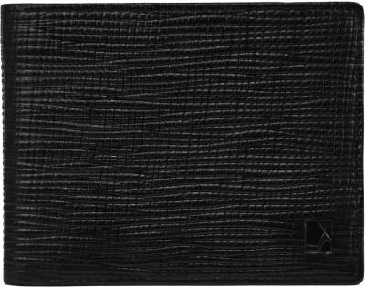Da Milano Men Black Genuine Leather Wallet(4 Card Slots)