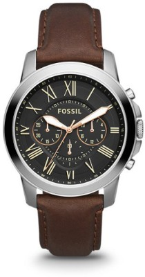 Fossil FS4813I/ FS4813 Grant Analog Watch   For Men Fossil Wrist Watches