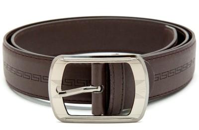 Realvarietysale Men Formal Brown Artificial Leather Belt