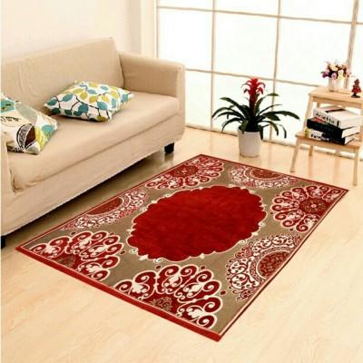 The Real Time Trendz Multicolor Chenille Carpet(155 cm  X 215 cm) at flipkart