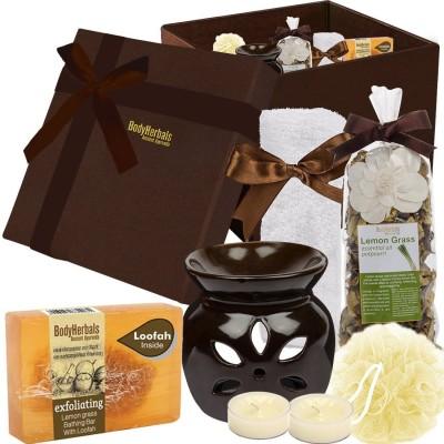 BodyHerbals Lemongrass Soap Spa Set ( Lemon Grass Bathing Bar with Natual Loofah) (100 grams)(Set of 6)