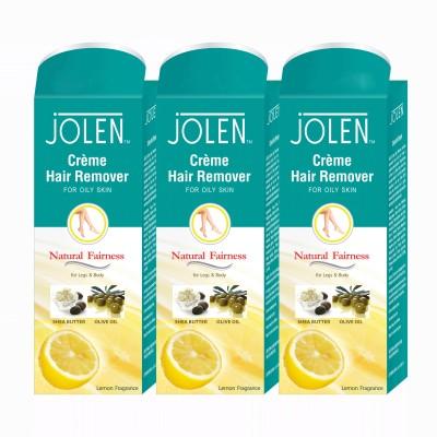 Jolen Hair Remover Lemon (Pack of 3) Cream(150 ml) Flipkart