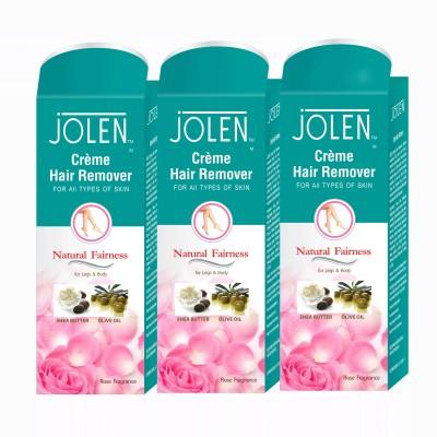 Jolen Hair Remover Rose (Pack of 3) Cream(150 ml) Flipkart