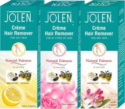 Jolen Hair Remover Combo (Pack of 3) Cream(150 ml) Flipkart