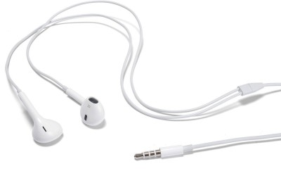 YK RETAIL YKR_EHS64 100%ORIGINAL SAMSUNG 3.5mm Jack EHS64 ASFWE Handsfree Headset Earphones+Mic Headphone(White, In the Ear)