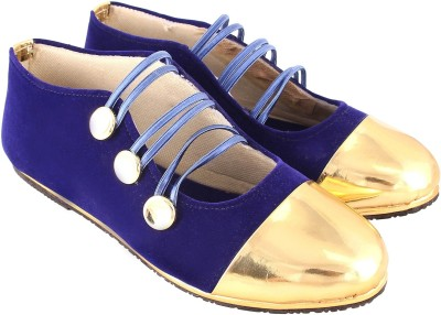 Stellar Collections Monk Strap For Women(Gold)