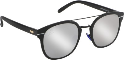 4f643a129b0 Aislin Unisex AS-K8784-17-FSVR483 Mirrored Retro Square Sunglasses ( Silver  )