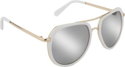 Aislin Aviator Sunglasses(Silver) at flipkart