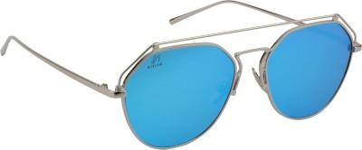 Aislin Oval Sunglasses(Green) at flipkart