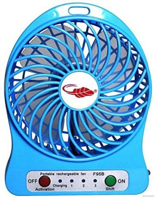 Shrih High Speed Mini Portable Rechargeable SH-05053 USB Fan(Blue)