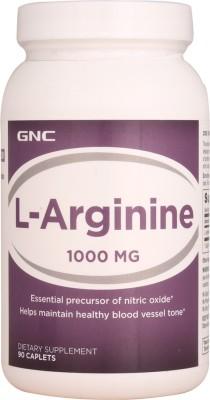 Gnc L-Arginine 1000 mg Supplements (90 Capsules)