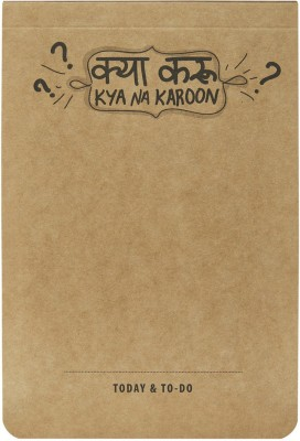 LOOK WHAT HAPPENED A5 Note Pad(Look What happened A5 KYA NA KAROON Notepads (pack of 2), Brown, Pack of 2)