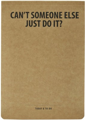 LOOK WHAT HAPPENED A5 Note Pad(Look What happened A5 JUST DO IT Notepads (pack of 2), Brown, Pack of 2)