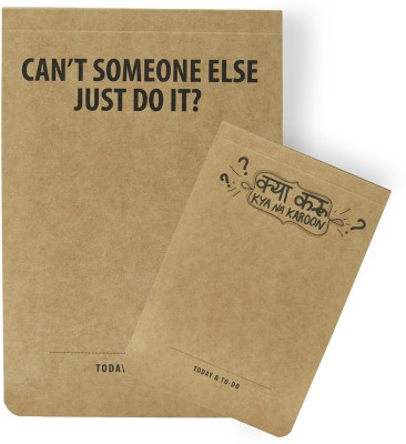 LOOK WHAT HAPPENED A5 Note Pad(Look What happened A5 JDI & A6 KNK COMBO Notepads (A5 JDI - 02 & A6 KNK - 02), Brown, Pack of 4)