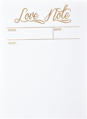 LOOK WHAT HAPPENED A5 Note Pad(Look What Happened - Love Notes (pack of 6 with envelope), White, Pack of 6)