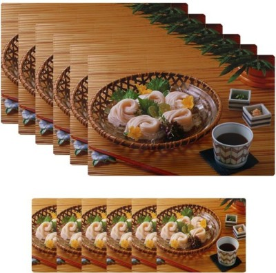 Shubheksha Rectangular Pack of 12 Table Placemat(Multicolor, PVC) at flipkart
