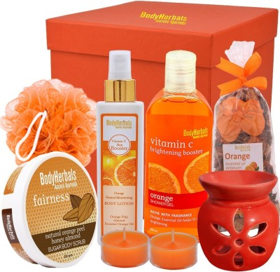 BodyHerbals Energising Orange Essentials Spa Gift Hamper(Set of 7)