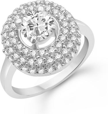 VK Jewels Eye Catchy Rhodium Alloy Cubic Zirconia Rhodium Plated Ring