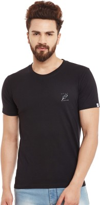 Chill Winston Solid Men's Round Neck Black T-Shirt