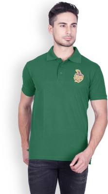 Kolkata Knight Riders IPL Solid Men Polo Neck Dark Green T-Shirt