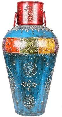 Apkamart Handicraft Corner Pot - Decorative Metallic Corner Showpiece for Home Decor and Gifts Iron Vase(18 inch, Multicolor) at flipkart