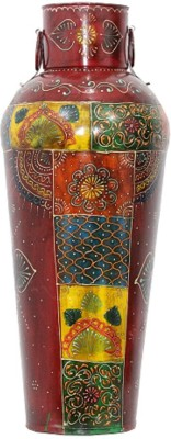 Apkamart Handicraft Corner Pot - Unique Metallic Corner Showpiece for Home Decor and Gifts Iron Vase(24 inch, Multicolor) at flipkart