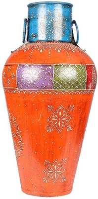 Apkamart Handicraft Corner Pot - Hand Painted Metallic Corner Showpiece for Home Decor and Gifts Iron Vase(18 inch, Multicolor) at flipkart