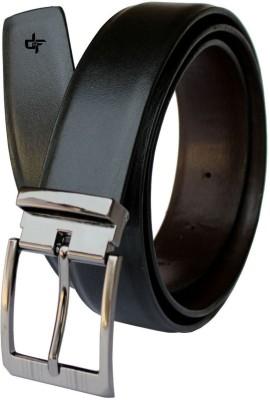DFashion Men Black Artificial Leather Belt