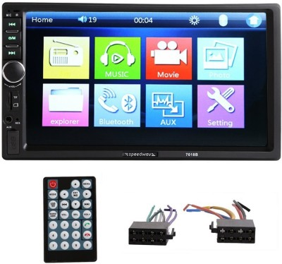 Speedwav Car 7018B Double Din HD Touch Screen Bluetooth USB For Swift All Models Car Stereo(Double Din)