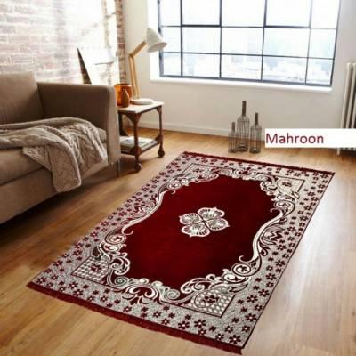 Saanvi7 Star Multicolor Chenille Carpet
