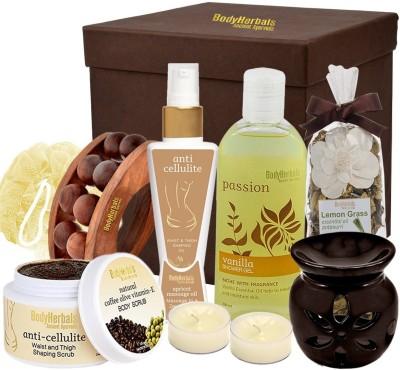 BodyHerbals Anti Cellulite Coffee Spa Gift Hamper(Set of 8)