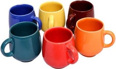 Krishna Marble Finish Tea/Coffee Cups, 130 Ml, Set Of 6 Pieces, Multicolour(Multicolor) at flipkart