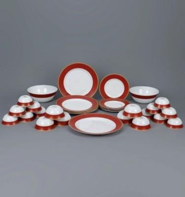 Laopala Sovrana Regent Red Opal Pack of 33 Dinner Set(Opalware) at flipkart