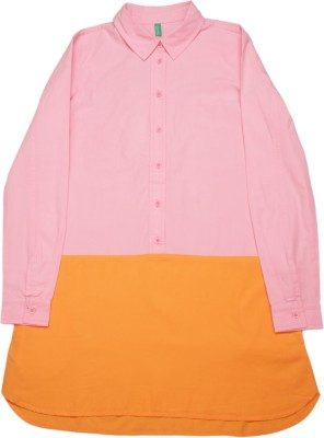 United Colors of Benetton Girls Casual Dress(Full Sleeve)