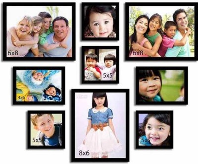 Brothers Creation MDF Photo Frame(Black, 9 Photos) at flipkart