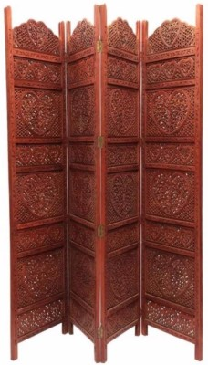 Onlineshoppee Solid Wood Decorative Screen Partition(Free Standing, Finish Color - Brown)