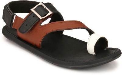 Footgear Men Tan, White Sandals at flipkart