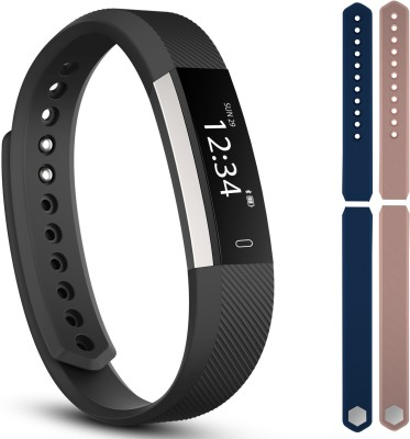 fbandz fbandz Limited edition ultimate ID115 Altum Fitness Band Exercise Tracker Smart Band Phone Call Alert 2 Colourful Replacement Bands(Blue, Pink) at flipkart