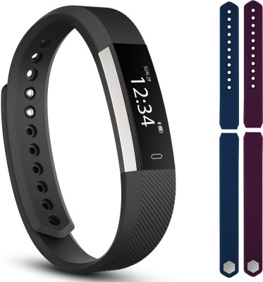 fbandz ID115-2STREP Fitness Smart Band(Blue, Purple Strap, Size : Regular)