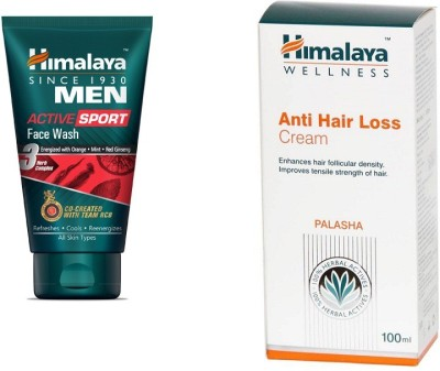 Himalaya MEN ACTIVE SPORT Face Wash with Anti Hair Loss Cream 100 ml(Set of)  available at flipkart for Rs.473