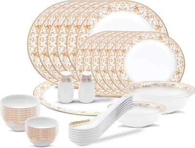 henniger GOLD PLATED BEST SELLER Pack of 36 Dinner Set(Bone China, Gold Plated) at flipkart