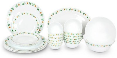 La Opala Diva Ivory Amber Willow Pack of 27 Dinner Set(Opalware) at flipkart