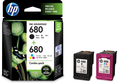 hp 680 combo pack Multi Color Ink (Magenta, Yellow, Cyan, Black) Multi Color Ink(Black, Cyan, Magenta, Yellow)