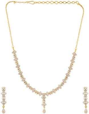 Voylla Brass Jewel Set(Gold) at flipkart