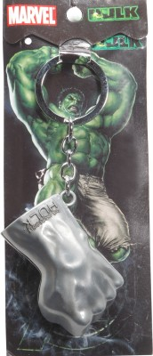Spot Dealz SDL441 Hulk Fist Premium Metal Silver Keychain Key Chain