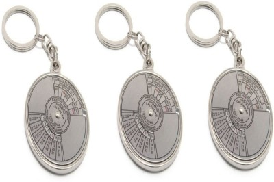 CRAFTKART CFK360 Set of 3- Date Perpetual with Calendar up-to 50 Years Key Chain Carabiner(Multicolor)