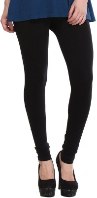 Riya Look Churidar  Legging(Black, Solid)  available at flipkart for Rs.325