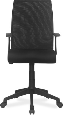 Nilkamal Thames Leatherette Office Arm Chair(Black)