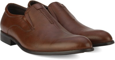 Pavers England Genuine Leather Slip On(Tan) at flipkart