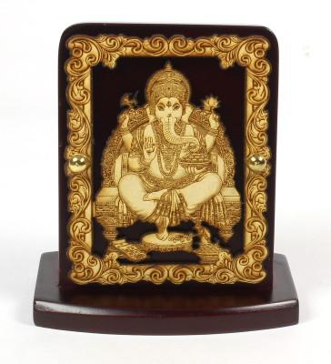 Eknoor Car Dashboard Idol - Ganesha Showpiece  -  7.5 cm(Wooden, Multicolor)  available at flipkart for Rs.474